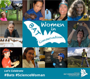 A photo montacge of select women in bat conservation by Bat Conservation International