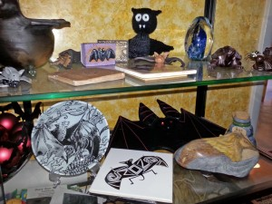 A photograph of a small portion of Save Lucy's art collection.