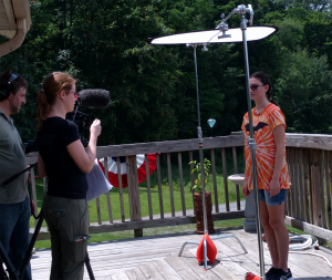 A photograph of Blogger Rachael being interviewed for the Bat Squad webinarachael being interviewed